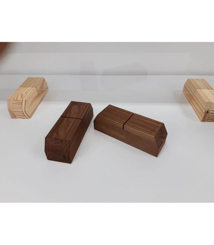 Comprar caja de madera para vino o cava con tapa corredera alistonada