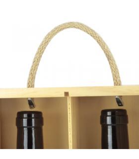 Comprar caja de madera con tapa corredera alistonada 3 botellas