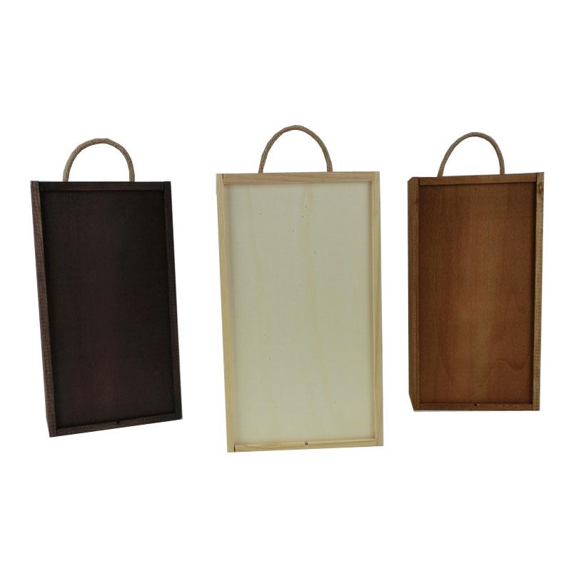 comprar caja de madera con tapa corredera alistonada para botellas