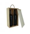 Caja de madera para dos botellas de vino
