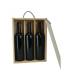 Caja de madera para 3 botellas
