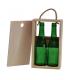 Caja de madera para 2 botellas de tercio de cerveza