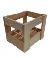 Caja de madera para 12 tercios de cerveza
