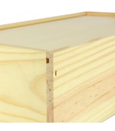Caja de pan con persiana de madera