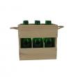 Caja de madera para tercios de cerveza