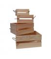 Caja de madera multiuso con cuerdas