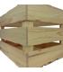 Comprar caja de madera tapa con cierres rústicos para 4 botellas mixtas