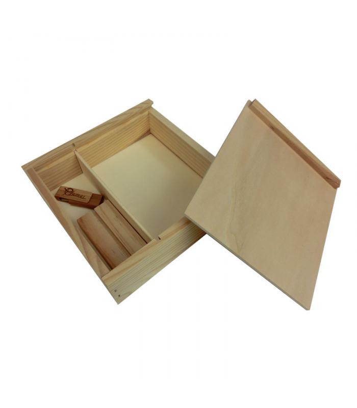 Tienda de cajas de madera para vino y o cava for Caja madera con tapa